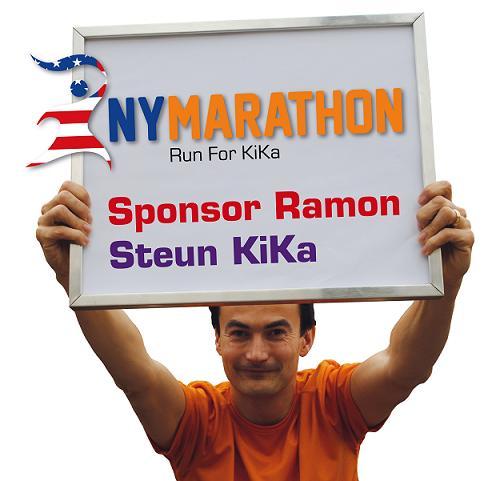 Ramon de la Fuente - Run For Kika New York Marathon