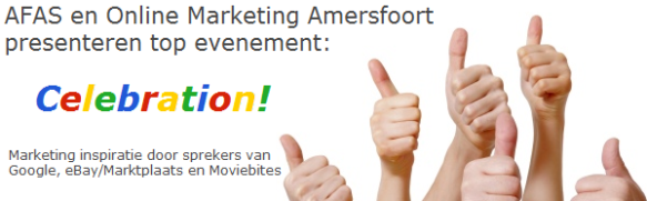 Celebration! Online Marketing Amersfoort 1e verjaardag.