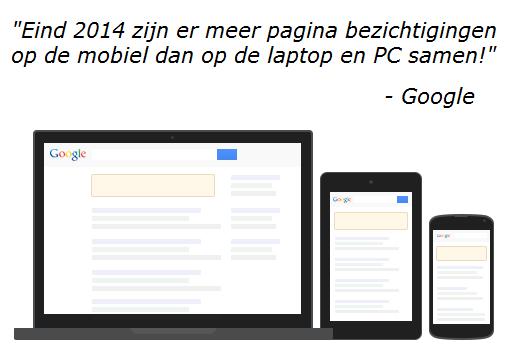 Pagina bezichtingen laptop-tablet-mobiel Op Google