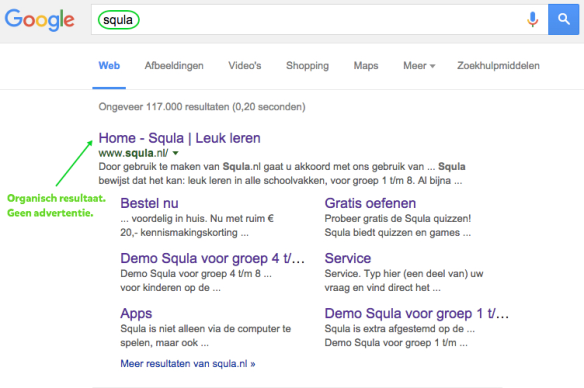 Google Adwords geen advertentie