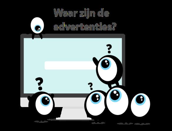 Waar zijn de Adwords advertenties op Google?