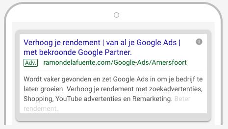 De nieuwe derde koptekst en tweede omschrijving van een Google Ads tekstadvertentie