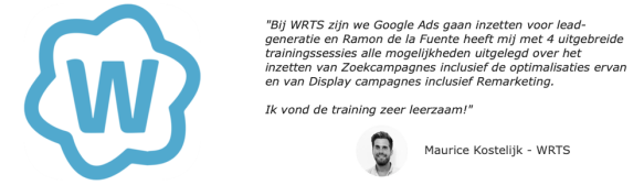 Recensie van WRTS over de Google Ads training